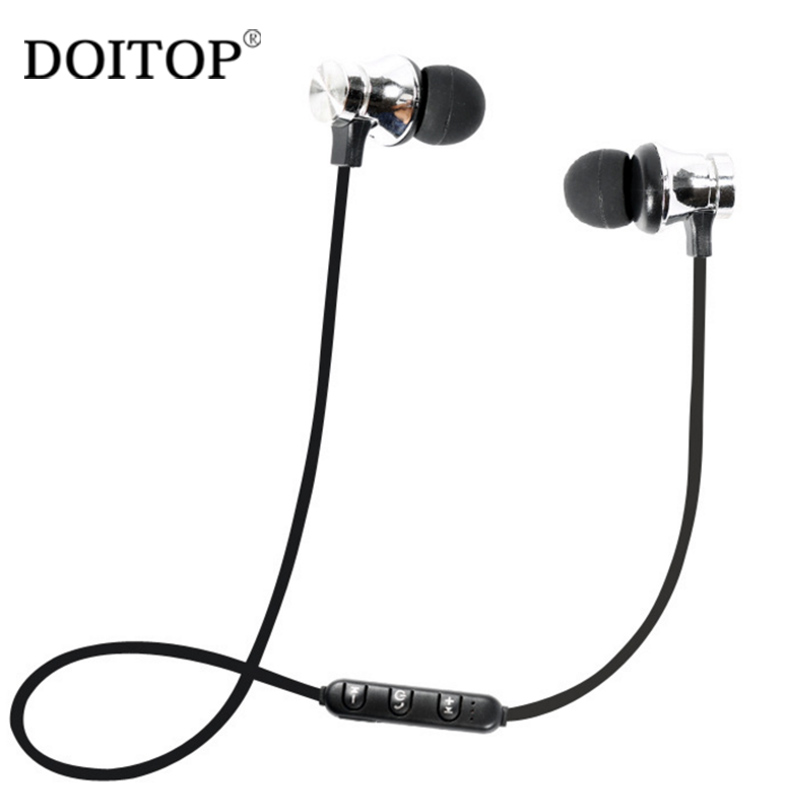 DOITOP Wireless Bluetooth In-Ear Magnetic Earphone 2018 New X9 NFC Stereo Earphone Sport Running Headset Earbuds With Mic A3 ttlife original bluetooth v4 1 earphone wireless in ear stereo headset waterproof apt x sport headphone with mic for ios android