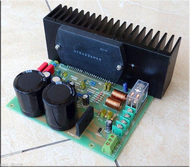Assembeld STK4234MK5 Power amplifier board + speaker protection 100W*2 L163-92