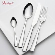 Set Besteck Edelstahl 24 stücke Service 6 Person Silber Messer Gabel Set Restaurant Besteck Geschirr China Sets
