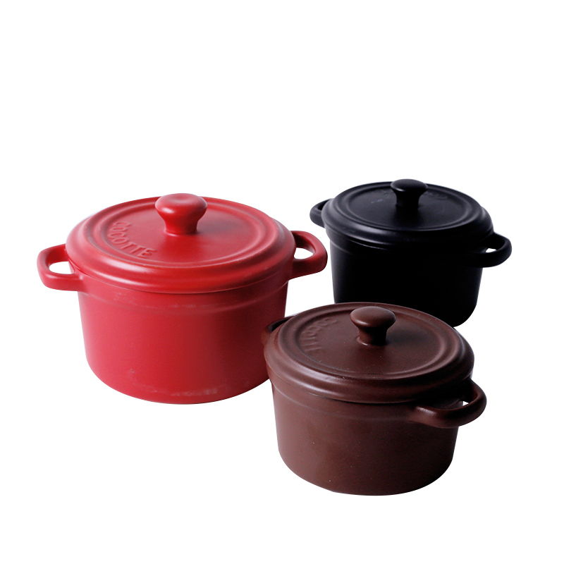 Ceramic Casserole Stew Soup With Lid  2