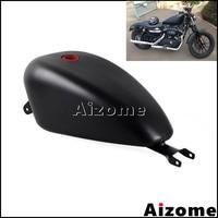 Black Motorcycle EFI 3.3 Gal Fuel Tank For Harley Sportster XL1200 XL883 SuperLow Iron 883 Custom 72 48 2007 2016 Oil Gas Tank
