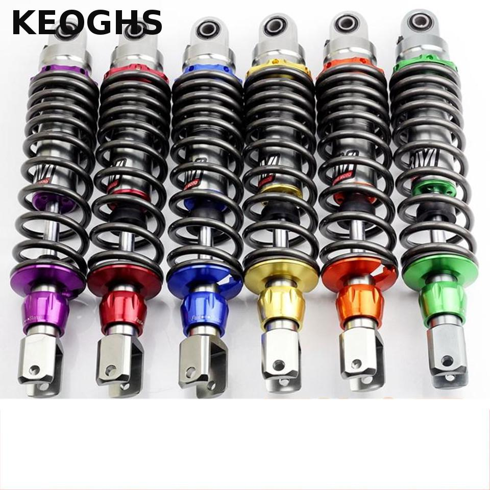 KEOGHS Rear Shock Absorber Of Motorcycle Rear Suspension Adjustable Damping 320mm Distance For Single Shock Absorber Scooter keoghs motorcycle front shock absorbers front fork tube suspension 26mm 27mm for yamaha scooter jog rsz force