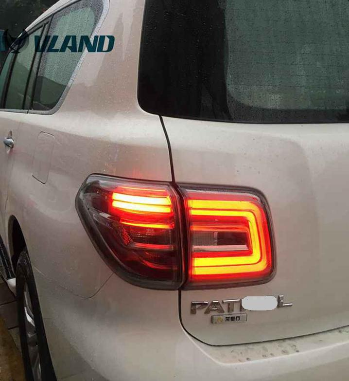 Free shipping Vland rear car lamp for Nissan Patrol LED tail lamp led light bar running light fit for Patrol Y62 2008-15 free shipping china vland car led tail lamp for 2008 2015 mitsubishi lancer a6l style taillight with led moving signal light