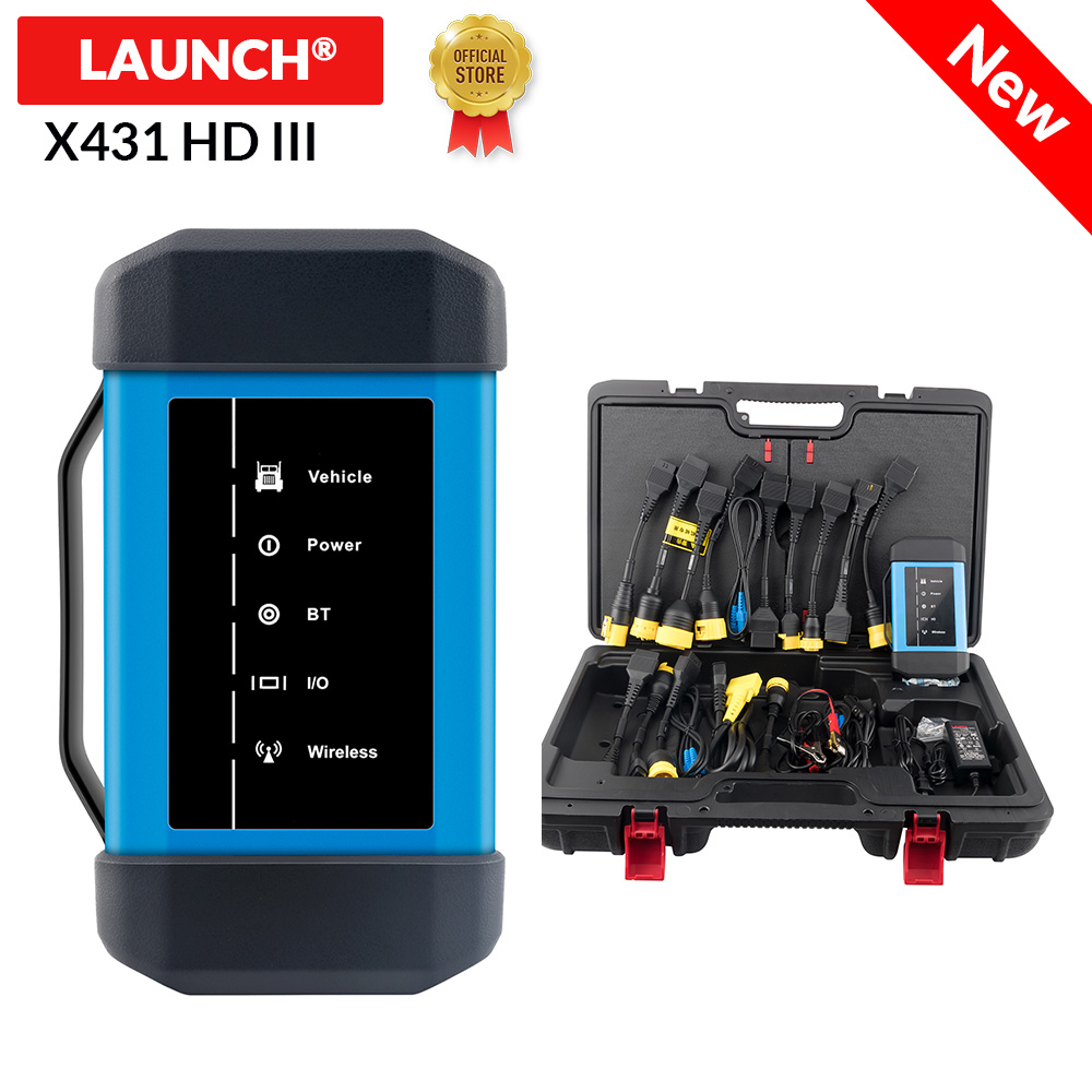 Launch X431 HD III 24V Truck full system diagnostic support work with X431 V X431 PRO3