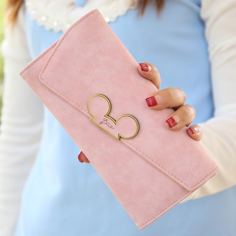Fashion Women Wallet Ladies Mickey Purse Coin Purses Holders Lady Pocket Wallets
