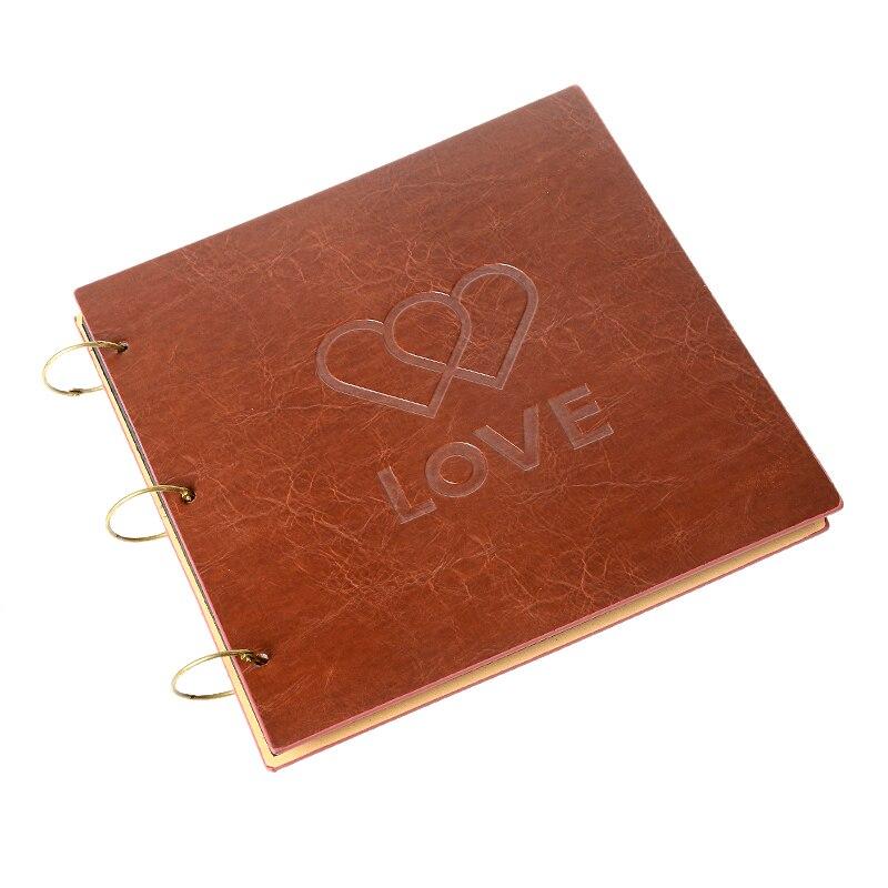 16 pouces 30 pièces noir Scrapbook papier feuilles bricolage Scrapbooking Vintage Album Photo mariage bébé grand Album Photo