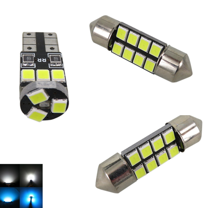 WLJH 7x Ice Blue Pure White 2835 SMD Car Led Interior Light Bulb Package  For Mazda 3 MS3 Hatchback 2004 2005 2006 2007 2008 2009