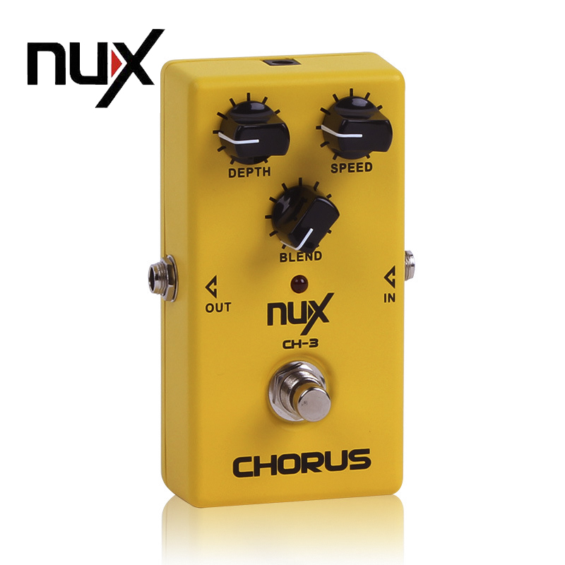 NUX CH-3 Classic Analog Electric Guitar Effect Pedal Chorus Low Noise BBD True Bypass Guitarra Effect Pedal mooer ensemble queen bass chorus effect pedal mini guitar effects true bypass with free connector and footswitch topper