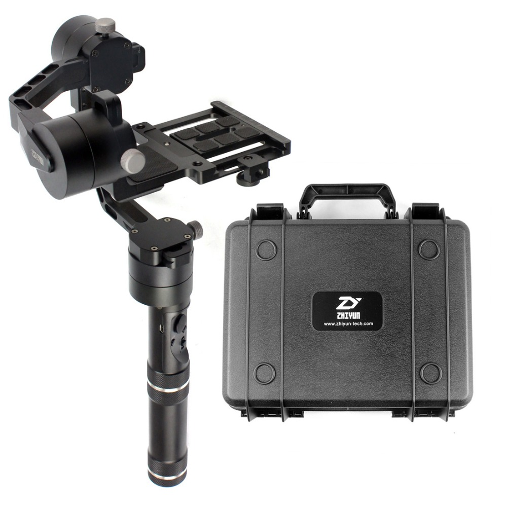 Zhiyun Crane 3-axle Handheld Stabilizer Gimbal for DSLR Canon Cameras Support 1.8KG F18164 afi vs 3sd brushless handheld 3 axle steady gimbal stabilizer for canon 5d 6d 7d sony for gh4 dslr cameras vs zhiyun feiyu tech