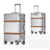 Metal Wrap Angle PC Koffer Suitcase With Wheels 20242629Travel Trolley Case Hardside Rolling Luggage,TSA Lock Valise Cabine
