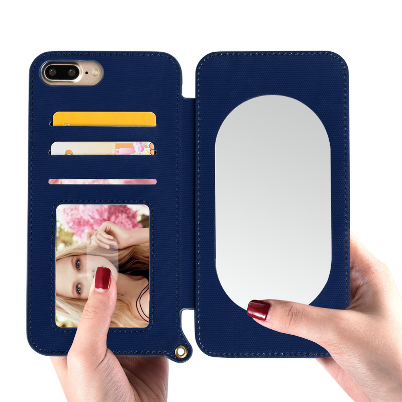 Mirror Cute Case For IPhone Cellphone Covers For iPhone 7 7Plus 8 8Plus Women Makeup Mirror Covers For iPhone XS Max XR Card