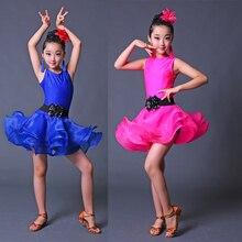 Профессиональное платье для латинских танцев для девочек, костюмы для соревнований, Детская Одежда для танцев, костюмы для бальных танцев, Детские платья для латинских танцев