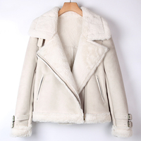 Autumn Winter Women Faux Fur Leather Jacket and Coat Femme Fur Coats China Online Casual Motorcycle Fur Coats Lady Overcoat A288