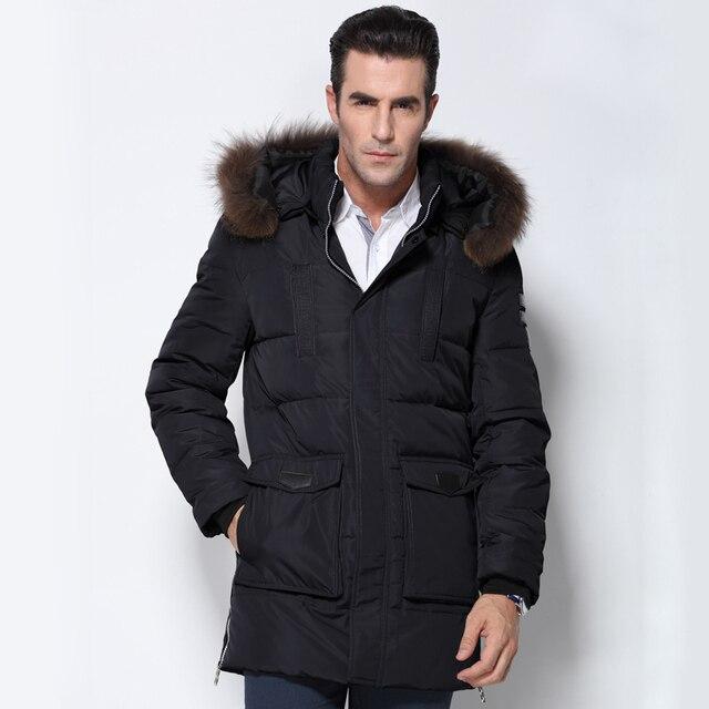 2016 куртка зимняя мужская  Мужчины Зимняя Куртка мужская Мужской Утолщение 80% Белая Утка Вниз Пальто Куртки Вниз Куртка пальто Плюс Размер