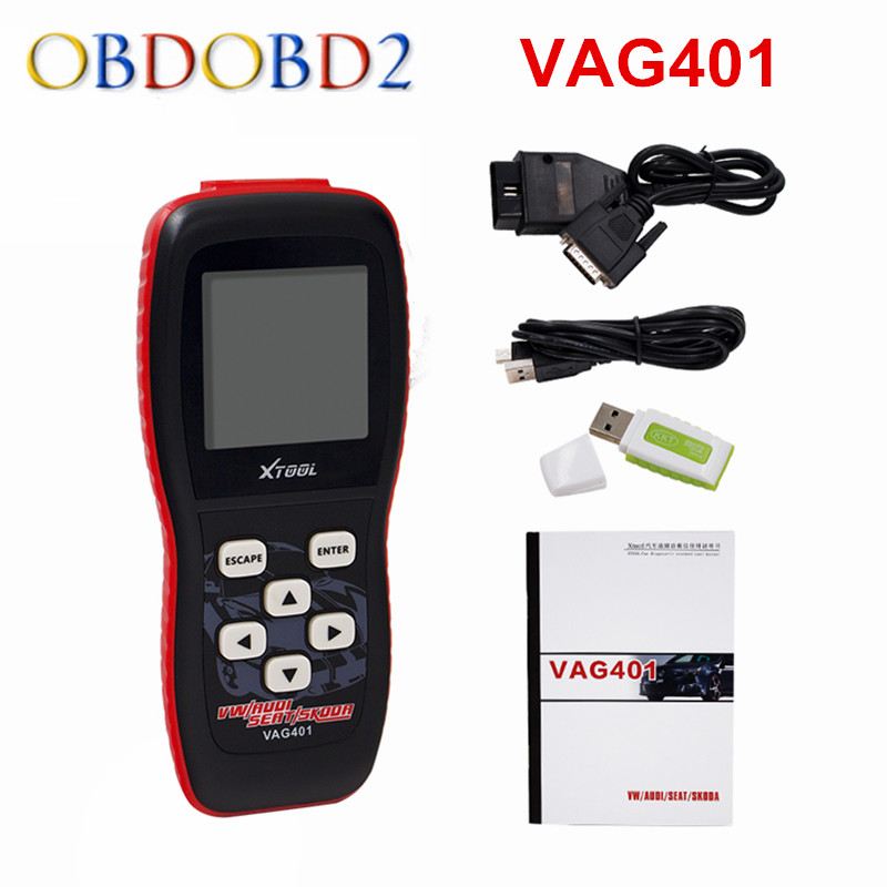 100% Original XTOOL VAG401 For AUDI/VW/SEAT/SKODA VAG 401 Auto diagnostic Scanner  Free Update Online Free Shipping 2017 vag com for vw audi seat skoda vag obd2 diagnostic cable with ft232rl atmega162 chip vag can com usb diagnostic interface