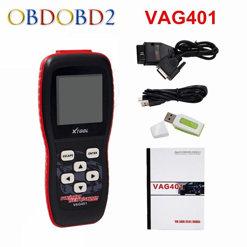 100% original xtool vag401 für audi/vw/seat/skoda vag 401 selbstdiagnosescanner freies update online freies verschiffen