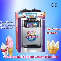 Commercial Soft Ice Cream Machine Stainless Steel Ice Cream Maker Colorful Body 220V Digital Control CE