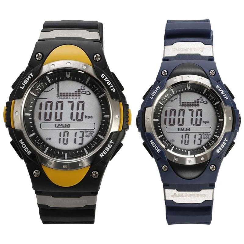 Men Digital Watch Waterproof Male Watch Outdoor Fishing Altimeter Barometer Thermometer Altitude Watch relogio masculino Clock outdoor multifunction digital fishing barometer waterproof fishing watch barometer altimeter thermometer sports watch 6 colors