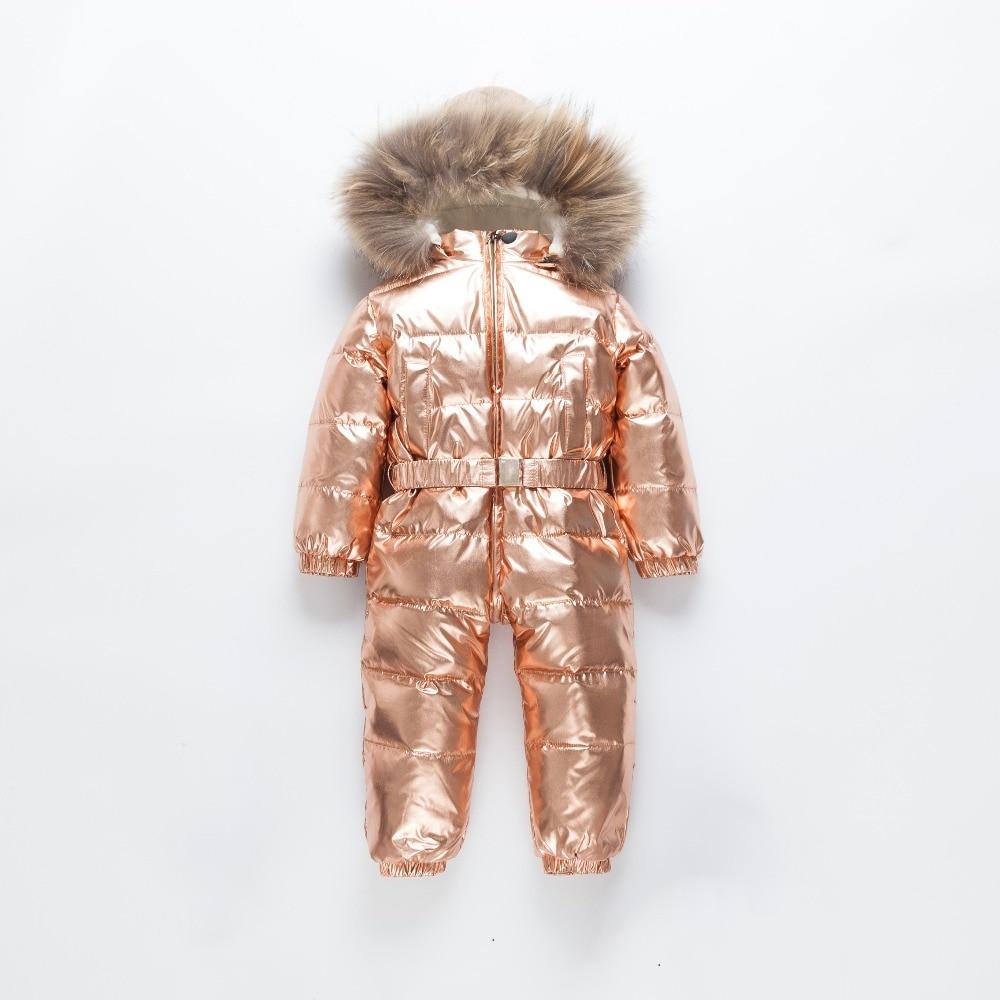 c6da8dd1c Russian Winter Infant Warm White Duck Down Rompers Children Outdoor ...