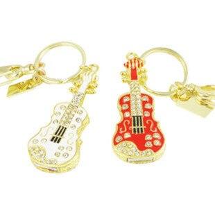 Bijoux guitare clé USB 128GB 1 to clé mémoire stylo lecteur 8GB 16GB 32GB 64GB USB2.0 rouge blanc cadeaux Presentes clé USB 2 to