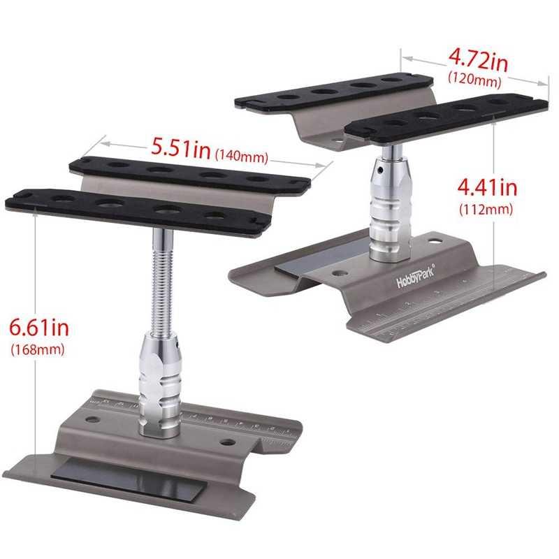 Metal Aluminum Rc Car Workstation Work Stand Repair 360 Degree Rotation For 1/8 1/10 Scale Model Titanium
