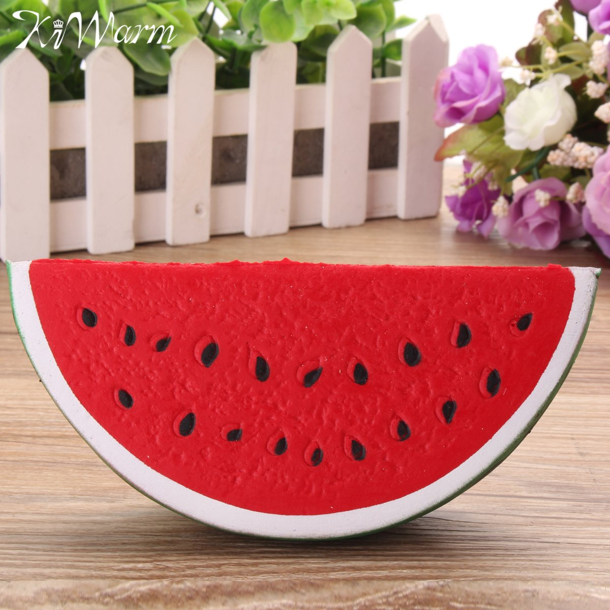 KiWarm Interesting Watermelon Slow Raising Stress Reliever Healing Toy Squeeze Fun Kid Gift Home Ornament Craft