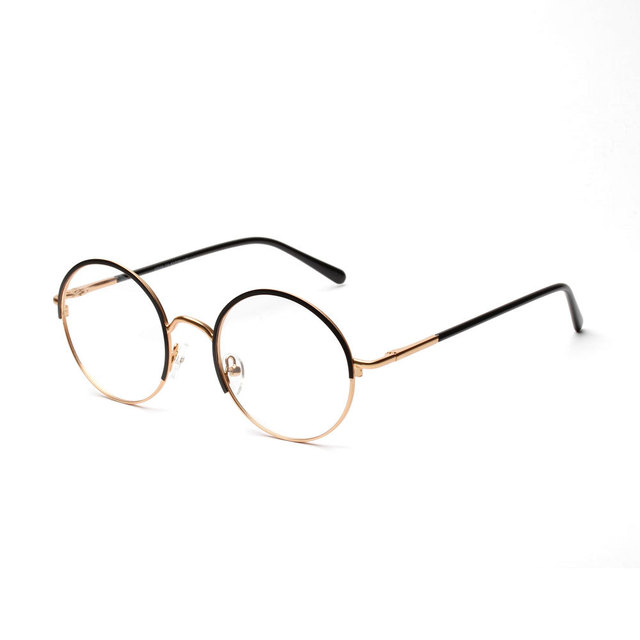 838d24bbe0 Calidad Gafas de Marco Mujeres Gafas Retro Marcos Hombres Gafas Redondas  Gafas Nerd gafas de Montura