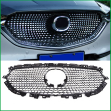 цена на For Mazda CX-5 CX5 2017 2018 FRONT Bumper Full Star RACING GRILLE Grills Cover Trim Car Styling ACCESSORIES GRILL