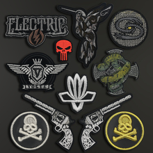 Back Badges Sew on Clothes Patch Embroidery Applique Skull Gun Iron Biker Patches for Clothing Punk Hippie Stickers Trend JOD big punk skull patch iron biker morale wings back patch badge large embroidery patches for clothes jacket jeans applique nl210