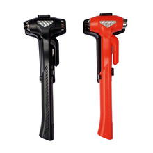 Safety Hammer 235mm L Life Saving Escape Emergency Hammer Seat Belt Cutter For Car Rescue Red/Black Hammer Window Glass Breaker