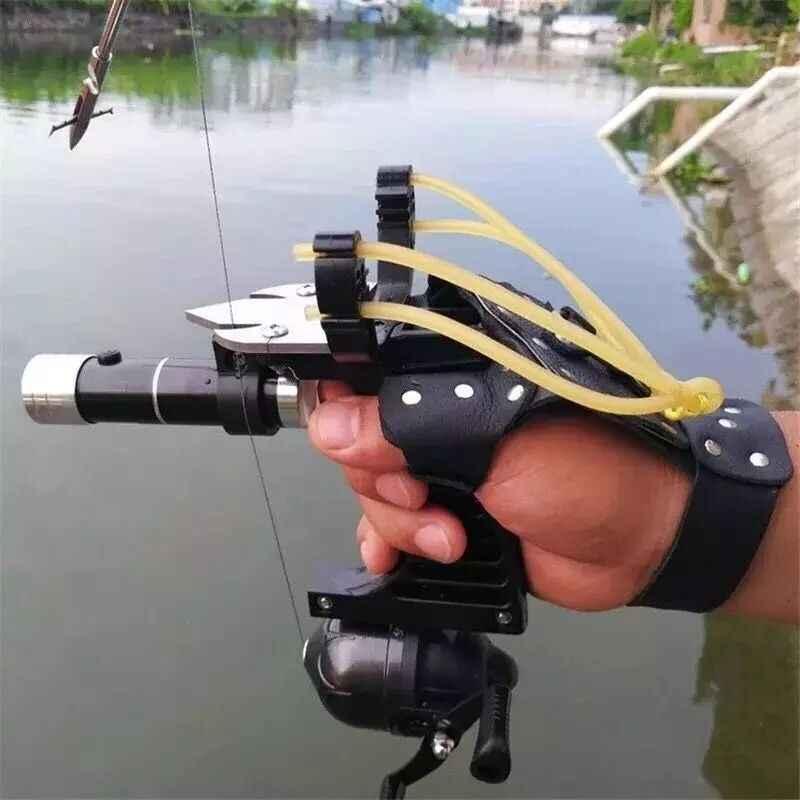Рогатка для рыбалки с дротиками