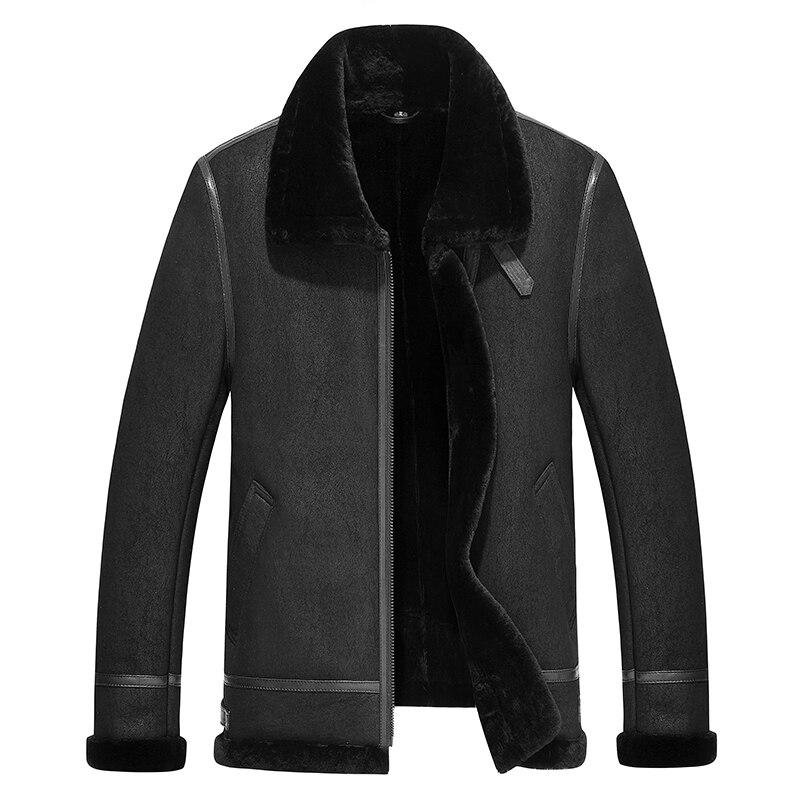 Men's real leather jacket air force jackets Motorcycle Genuine Leather Aviator jacket men sheepskin leather coat bomber jacket
