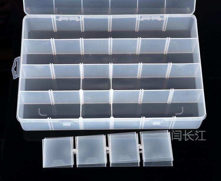 24 Caja de plástico original de Pp Caja de hardware de celosía Caja - Almacenamiento de herramientas - foto 2