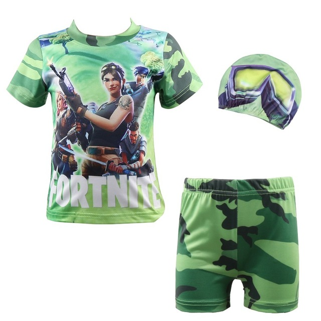 c7c54abfd Fortnite 100%Cotton Minecraft Cartoon Children's clothing Casual Swim Tops  Boys Girls Kids T Shirt tees Five Nights At Freddys