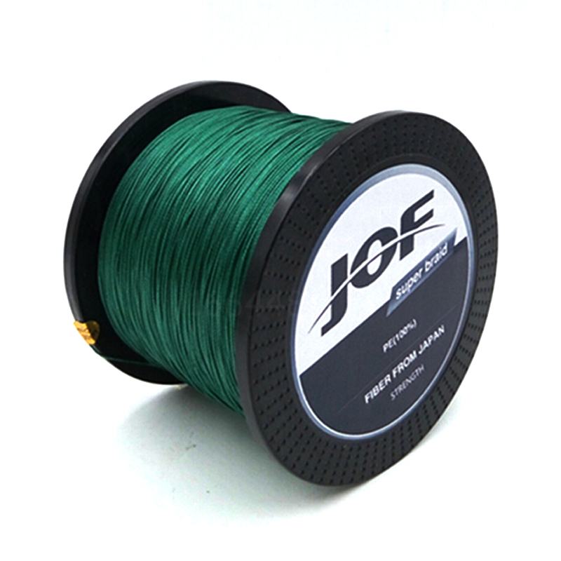 JOF 8 STRÄNGE Weaves 500M Extrem Strong Japan Multifilament PE 8 Geflochtene Angelschnur 15 20 30 40 50 60 80 120 150 200LB