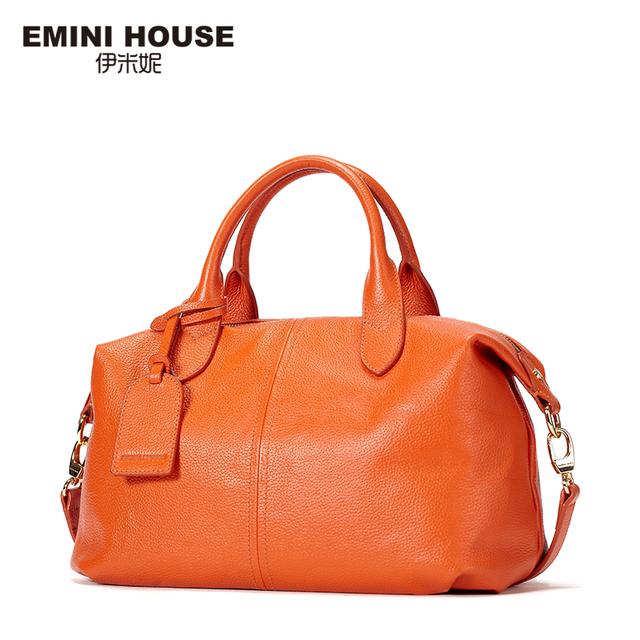 EMINI CASA Mulheres Couro Genuíno Messenger Bags 3 Cores Sacos Crossbody Para As Mulheres Da Moda Saco de Ombro Das Mulheres Bolsas Vagabundos Saco