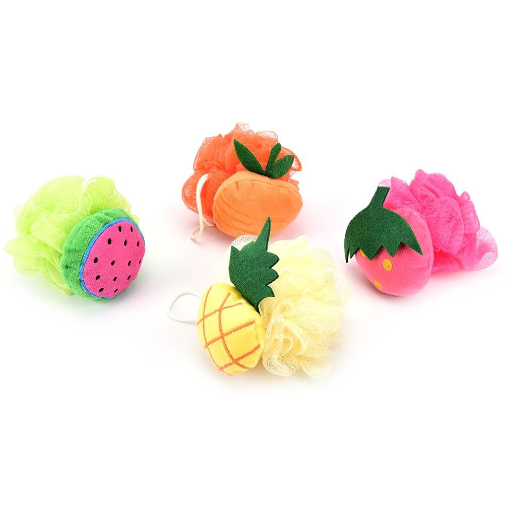 1Pcs Lovely Fruit Shape Bath Ball Bathroom Bath Sponge Rubbing Towel Shower Bath Flowers Bath Brush
