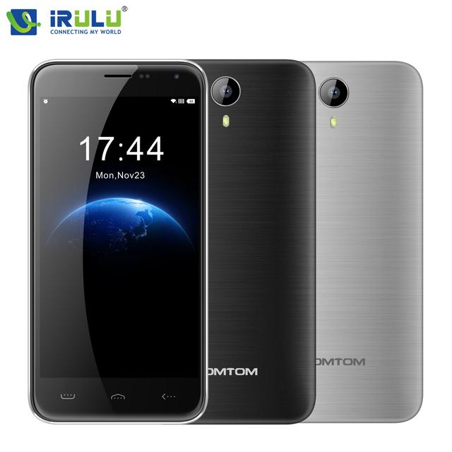 Irulu original homtom ht3 teléfono móvil smartphone android 5.0 pulgadas 5.0 mtk6580 quad core 3000 mah 1 gb ram 8 gb rom sim teléfonos celulares