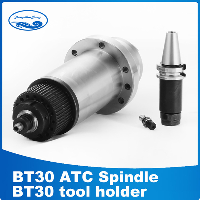 Atc spindle BT30 spindle CNC router milling spindle motor with synchronous belt for BT30 + drawbar spring BT30