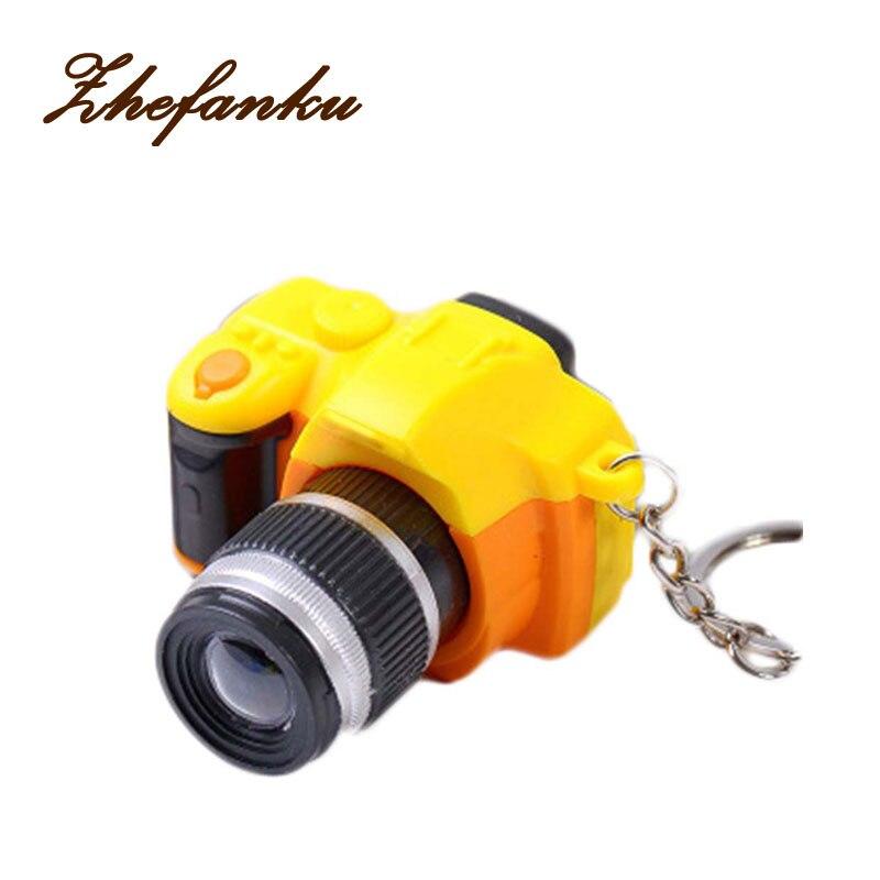 Camera Sound Light Led Keychains Flashlight Sound Rings Toys Simulation Camera Cartoon Keychains Child Gift