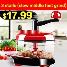 2017 neue multifunktions Küche Manuellen Küchenmaschine Haushaltsfleischwolf Gemüse Chopper Schnell Shredder Cutter Egg Mixer