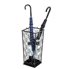 Wrought iron creative office umbrella bucket hanging folding storage