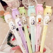 3 шт./лот милые японские куклы гелевая воды ручка/творческие канцелярские/Творческий студент мультфильм Pen/подарок для детей