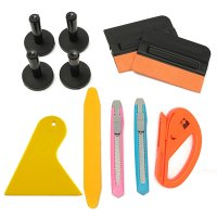 Professional Car Wrap Vinyl Tools Kit Scratchfree Squeegee Cutter 4 Magnets
