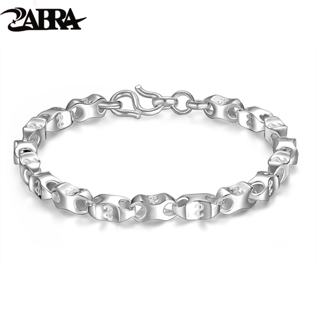 Real Pure 925 Sterling Silver Bracelets Men Women Rectangle Money Bracelet Handmade Vintage Punk Accessories Fashion