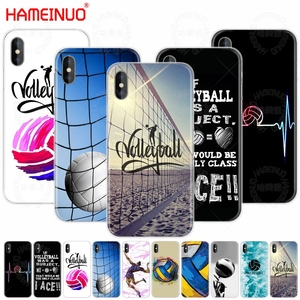 HAMEINUO Volleyball Sports cell phone Cover case for iphone X 8 7 6 4 4s 5 5s SE 5c 6s plus(China)