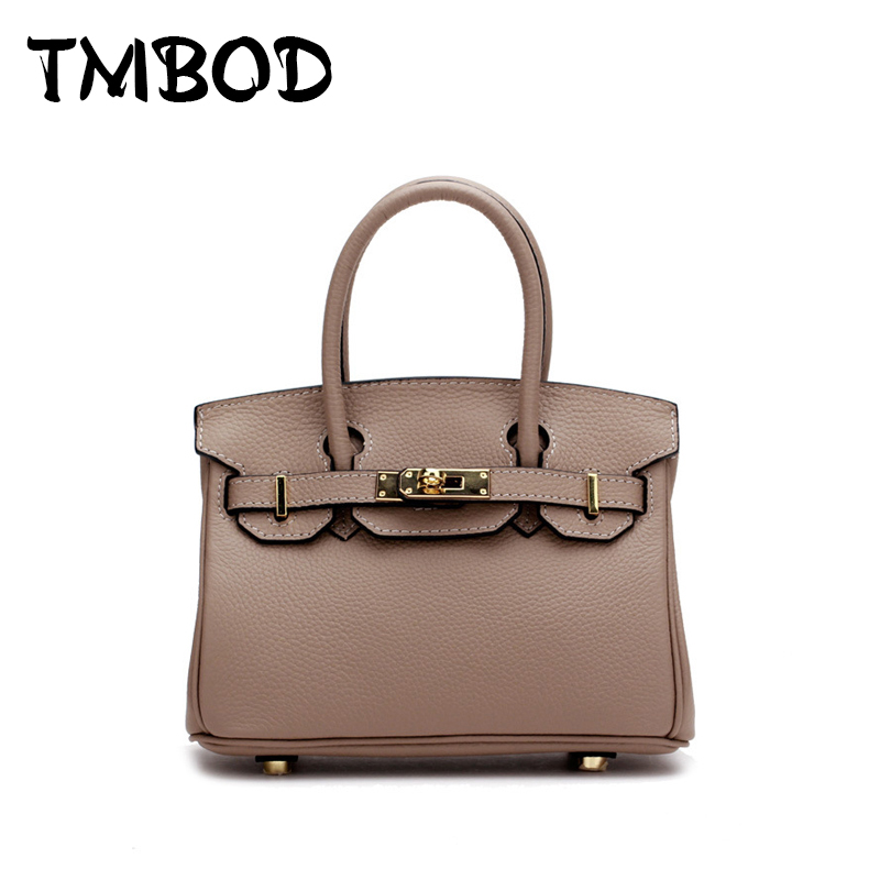 New 2018 Designer Classic Casual Mini Tote with Lock Women Genuine Leather Handbags Ladies Bag Messenger Bags For Female an515 chispaulo women genuine leather handbags cowhide patent famous brands designer handbags high quality tote bag bolsa tassel c165