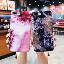 New colorful marble Phone Case For iPhone X XS Max Anti-fall soft all-inclusive Cover 6s 6 Plus 7 8 Cases Shell