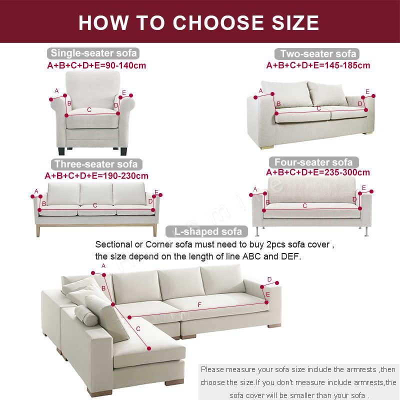 Plush โซฟายืดหนาโซฟาสำหรับห้องนั่งเล่น Universal All-Inclusive Sectional โซฟา 1/ 2/3/4 ที่นั่ง