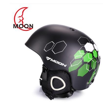 Moon skiing helmet autumn and winter adult male ladies monoboard skiing flanchard equipment Snow Sports saftly Helmets